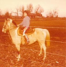 myron on his horse